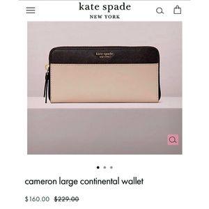 Kate Spade Cameron Large Continental Wallet NWT